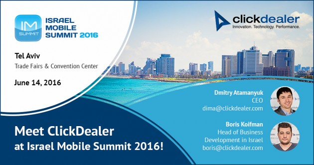 Let's meet up at Israel Mobile Summit!