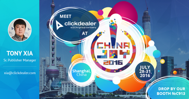 Meet ClickDealer at ChinaJoy!