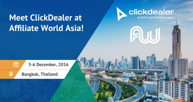 Join ClickDealer at Affiliate World Asia!