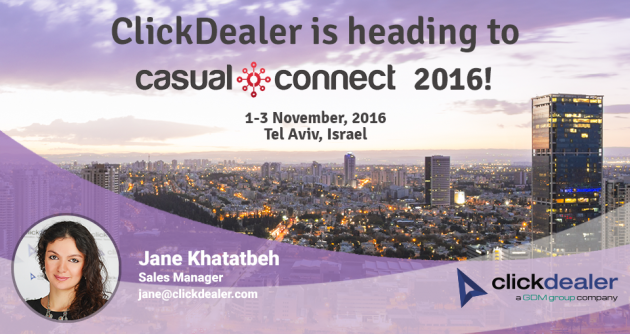 Meet ClickDealer at Casual Connect 2016!