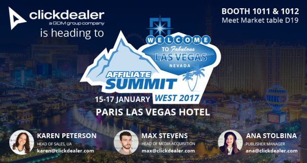 Meet ClickDealer at Affiliate Summit West!